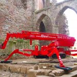 Tracked access platform for hire at Lowther Castle Penrith