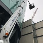 Self drive cherrypicker for building maintenance