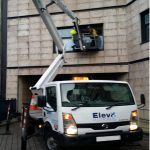 Self drive cherry picker used for glass replacement