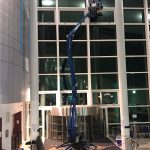 Tracked access cherry picker ideal for use in internal atrims