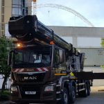 Access platform for hire at Wembly Stadium