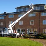 Self driver cherry picker hire for window cleaning