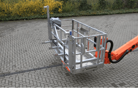 MEWP lift up system for safely lifting bulky equipment