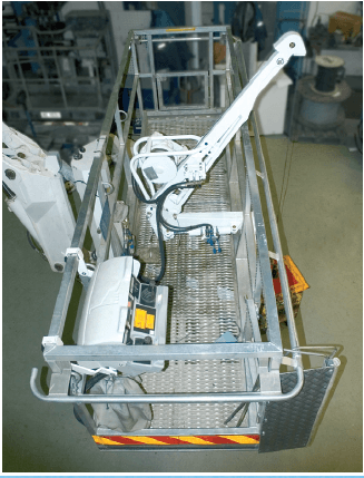MEWP cage winch for safely lifting equipment and materials