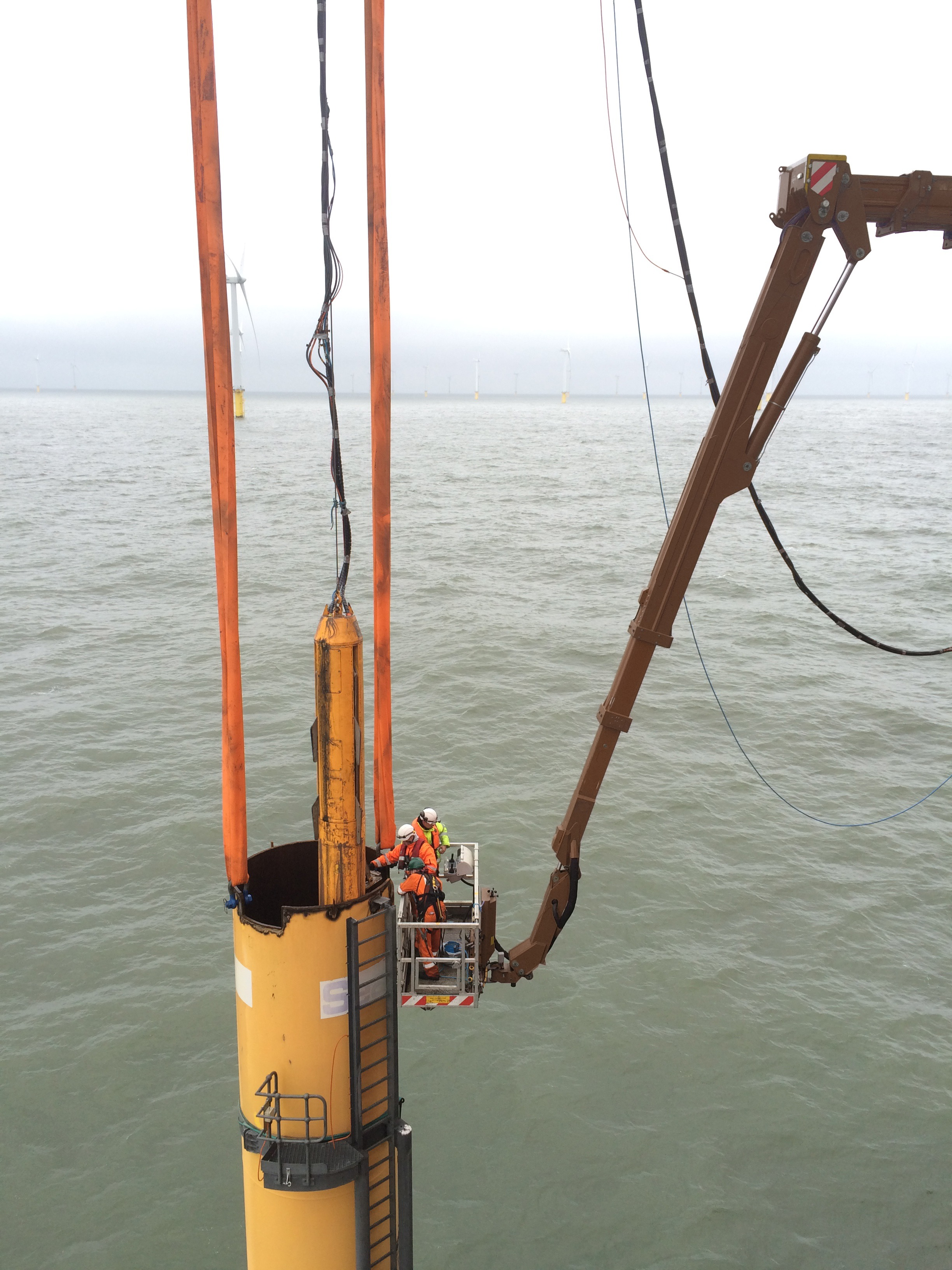 MEWP for off shore windturbine decomissioning
