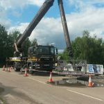MEWP with under reach for road bridge repairs