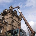 MEWP used for high level building restoration Scotland